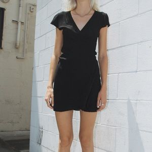 Brandy Melville Solid Black Robbie Dress